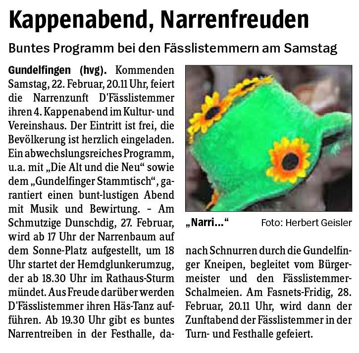 Gundelfinger Fasnet